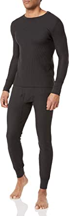 Fruit of the Loom Men's Recycled Waffle Thermal Underwear Set (Top and Bottom)