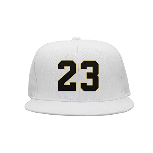 Player Jersey Number #23 X Air Jordan Color Snapback Hat Cap BlackYellow Outline