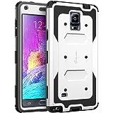 Coque Samsung Galaxy Note 4 - Housse i-Blason Armorbox couverture protectrice de double couche [pour Samsung Galaxy note 4] avec couvercle protecteur d'ecran integre / housse resistante aux chocs (blanc)