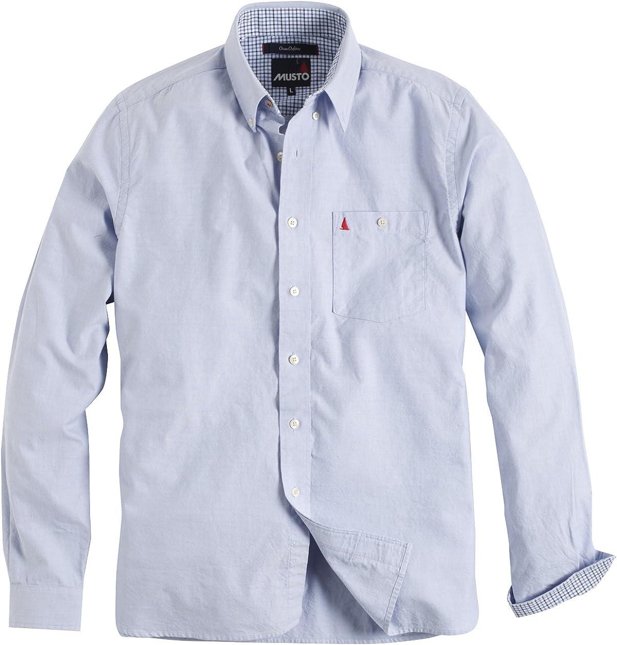 Musto - Camisa Clásico manga larga Modelo Oxford hombre caballero - Trabajo/Fiesta/Boda (Extra Grande (XL)/Azul): Amazon.es: Ropa y accesorios