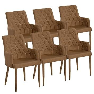 Esszimmer-Stuhl-SET 4 Stück Stuhl mit Armlehnen Bettina in 4 Farben