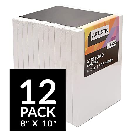 Stretched Canvas Frames - Stretched Canvas (Pack of 12 - 8 in x 10 ...