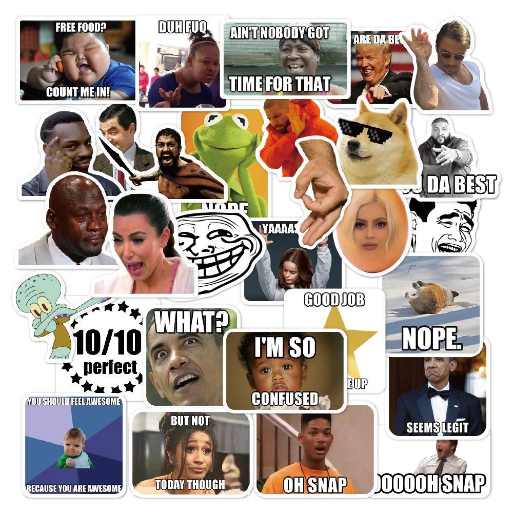 Stickers Calcos 30 un. Memes Origen U.S.A. (7QCJNPTX)