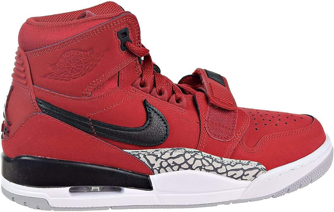 Jordan Legacy 312 - Men's Varsity Red/Black/White Leather Basketball Shoes