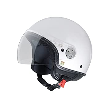 Jet Casco Vespa Visor 2.0, color blanco