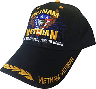 Baseball Cap Vietnam Veteran Vet Ribbon Low Profile Black Buy 2 Get 1 Free
