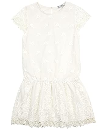 abe18cce508 Amazon.com: Mayoral Girl's Embroidered Tulle Dress Ivory, Sizes 8-16 ...
