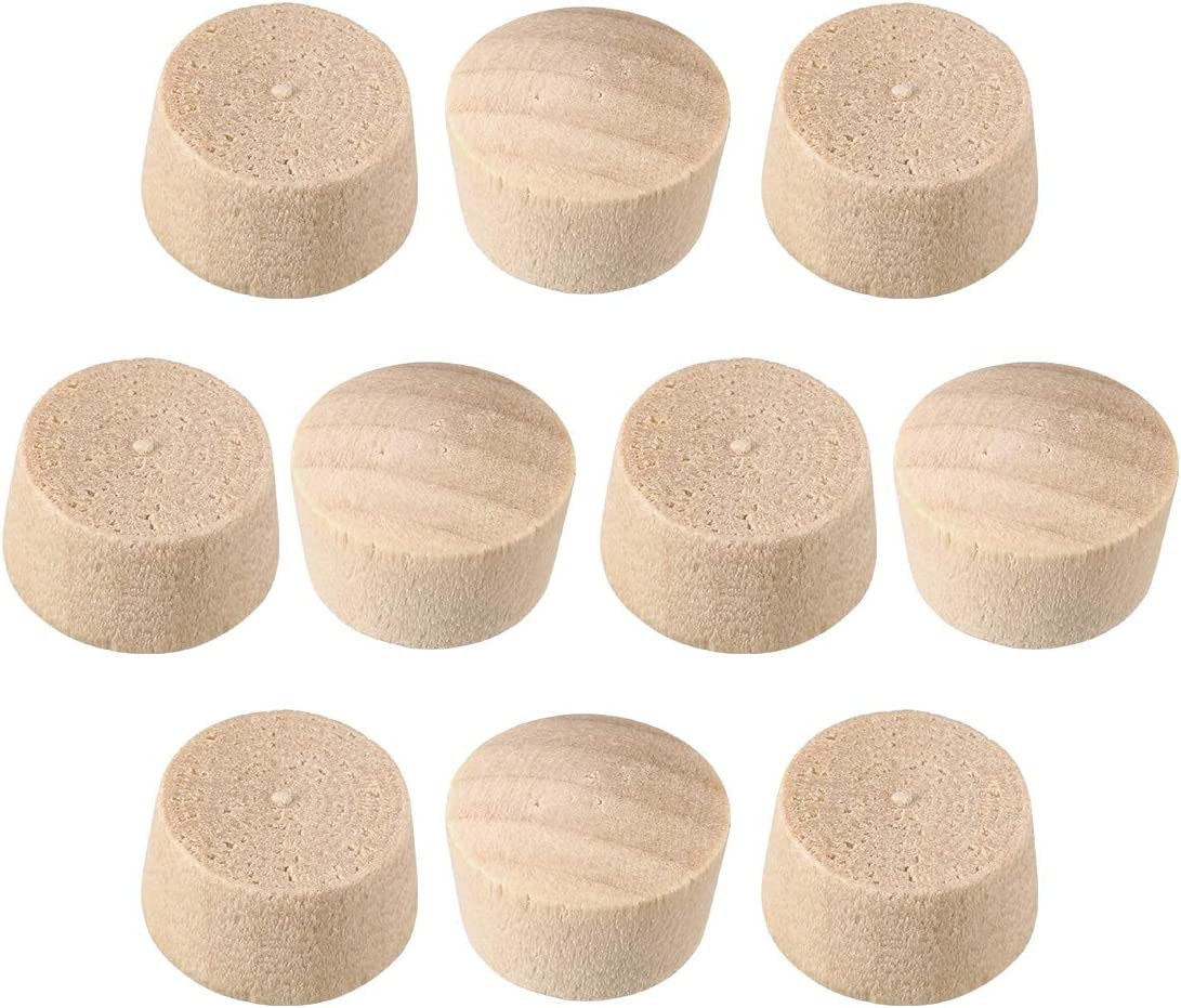 uxcell Wood Button Top Plugs 7/16 Inch Cherry Hardwood Furniture Plugs 9/25 Inch Height 200 Pcs