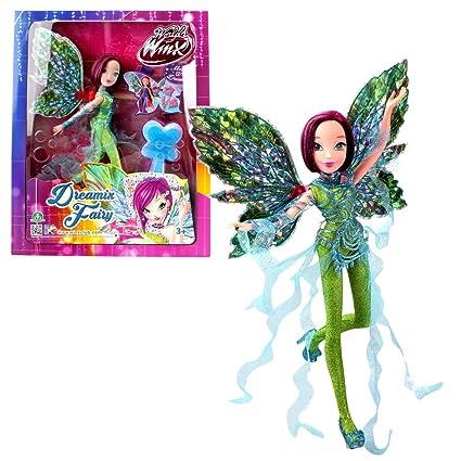 World of Winx - Dreamix Fairy Doll - Tecna 28cm with Magical Robe
