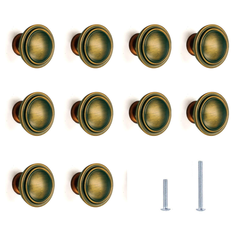 Amazon.com: HiFey - Juego de 10 pomos y tiradores cuadrados ...