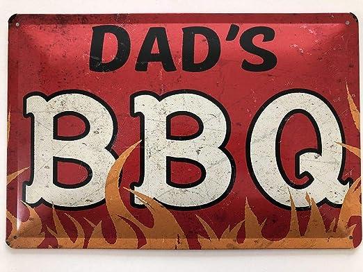 Cartel de Chapa 30 x 20 cm Dad s BBQ Vintage - deko7 ...
