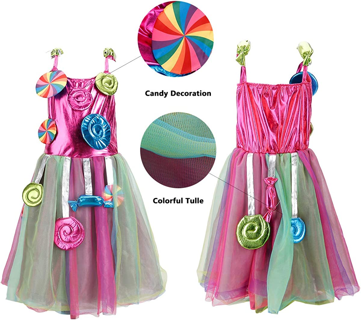 Girls Unicoen Costume Set Princess Rainbow Dress up for Party Supplies  Outfits