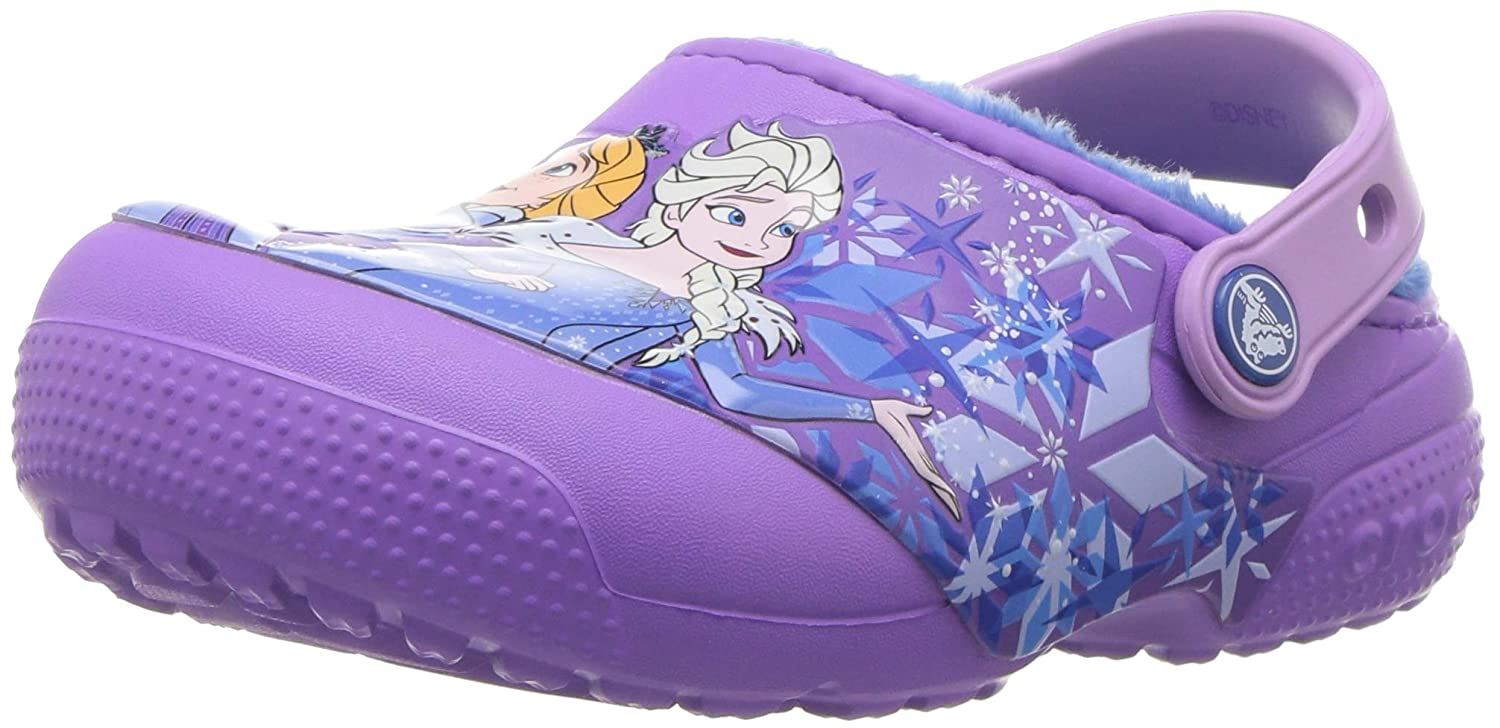 Crocs Unisex FunLab Lined Frozen Clog K, lila, 1 M US Little Kid