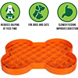 Hyper Pet SloDog Slow Feeder Dog lick mat (Perfect for Dog Food, Healthy Dog Treats, Cat Food & Cat Treats) [Fun Alternative to Slow Feeder Dog Bowls, Snuffle Mat & Dog Bowls Slow Feeder] Orange