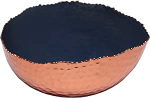 Melange Home Decor Copper Collection, 6-inch Oval Bowl, Color - Navy