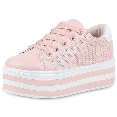 bbaf833880b0 SCARPE VITA Damen Plateau Sneaker Basic