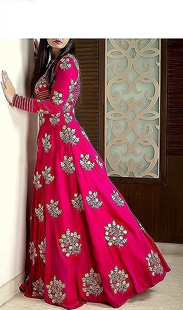 Aarna Fashion Women Party Wear Gown Ethnic Wear at amazon