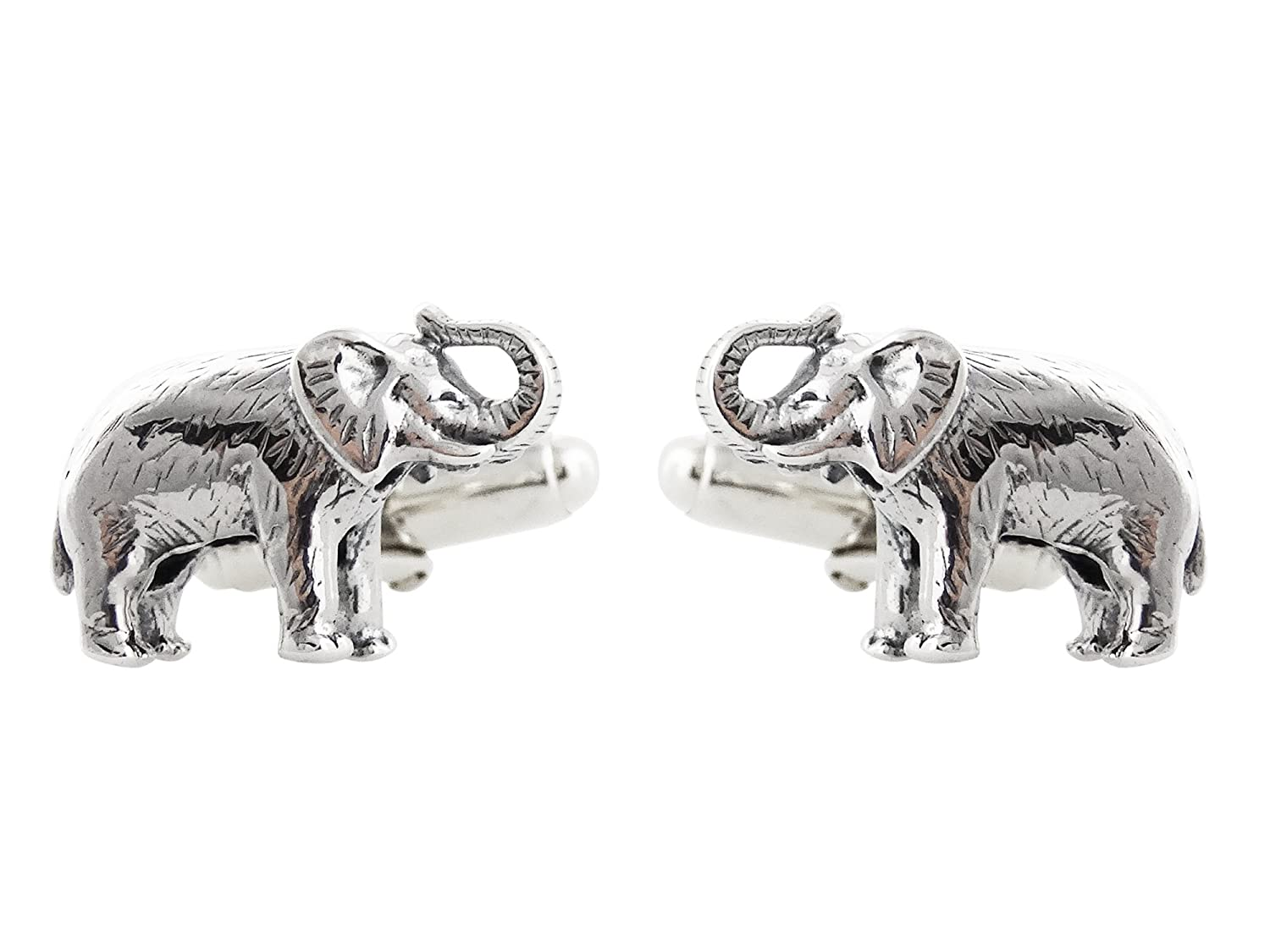 f1be367be6ac1 Amazon.com: Men's Elephant Cuff Links - 925 Sterling Silver, 1 Pair ...
