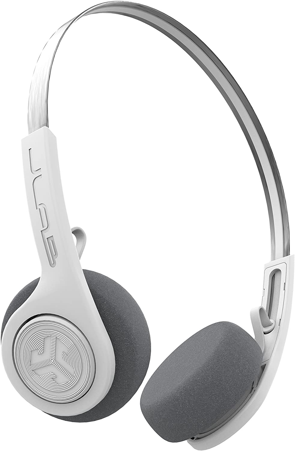 JLab Audio Rewind Wireless Retro Headphones | Bluetooth 4.2 | 12 Hours Playtime | Custom EQ3 Sound | Music Controls | Noise Isolation | with Microphone | Throwback 80s 90s Design | White