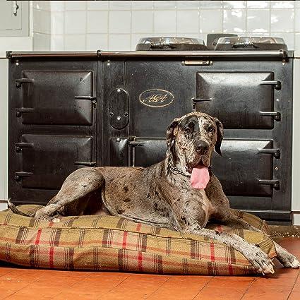 Lords & Labradors Lujo Hecho a Mano Tweed Perro Cama cojín (pequeño, Balmoral Hunter