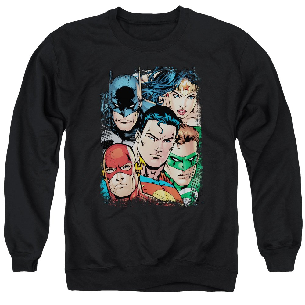 MMM Merchandising Justice League Mens Up Close and Personal Sweater