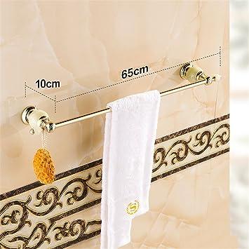 Hlluya Toallero Baño de mármol Jade toallero Ornamentos de Oro baño Toallas, 1: Amazon.es: Hogar