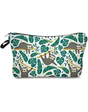 Cosmetic Bag for Women,Loomiloo Adorable Roomy Makeup Bags Travel Waterproof Toiletry Bag Accessories Organizer Sloth Gifts (Sloth 51476)