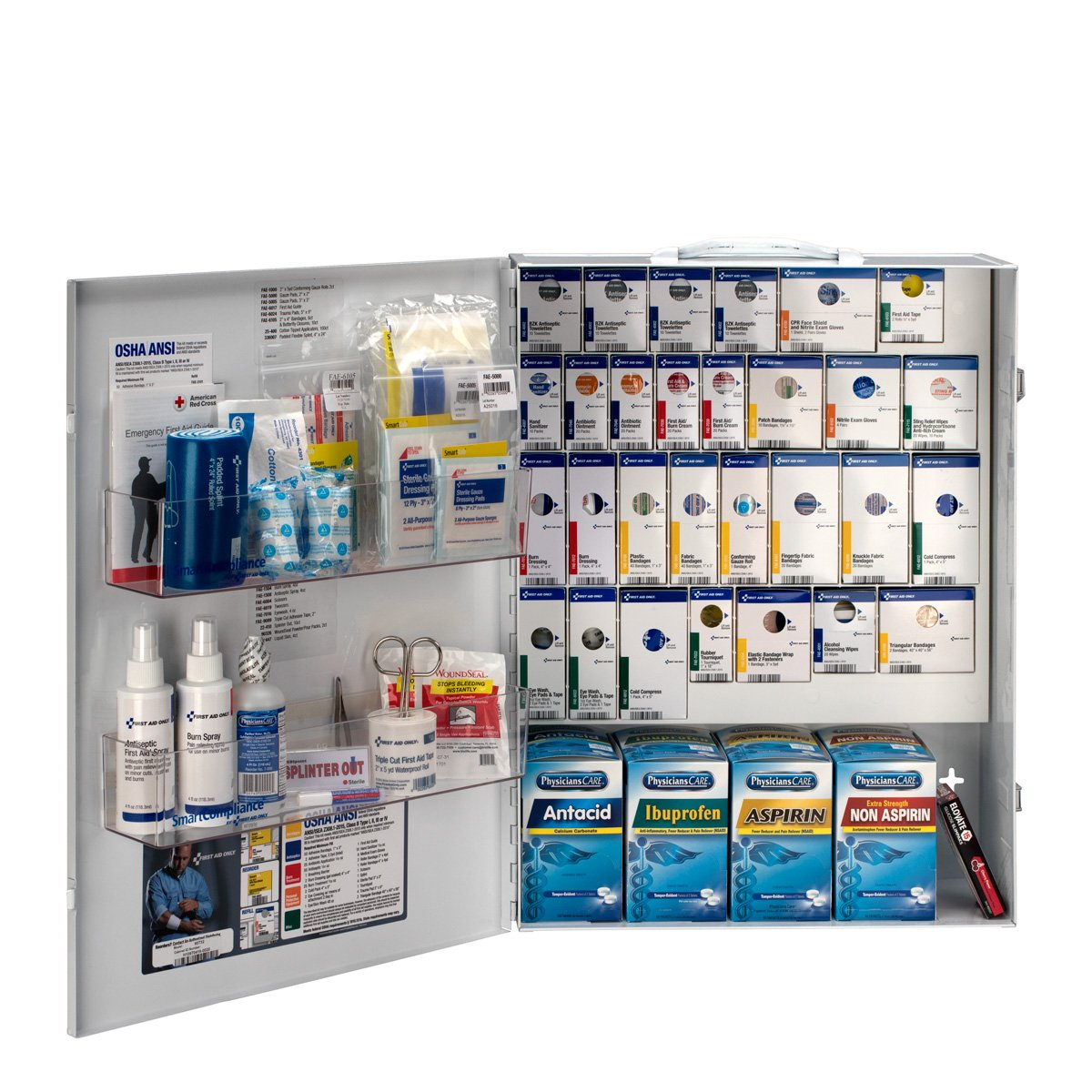 First Aid Only 150 Person XL Metal SmartCompliance First Aid Cabinet with Medication (90732)