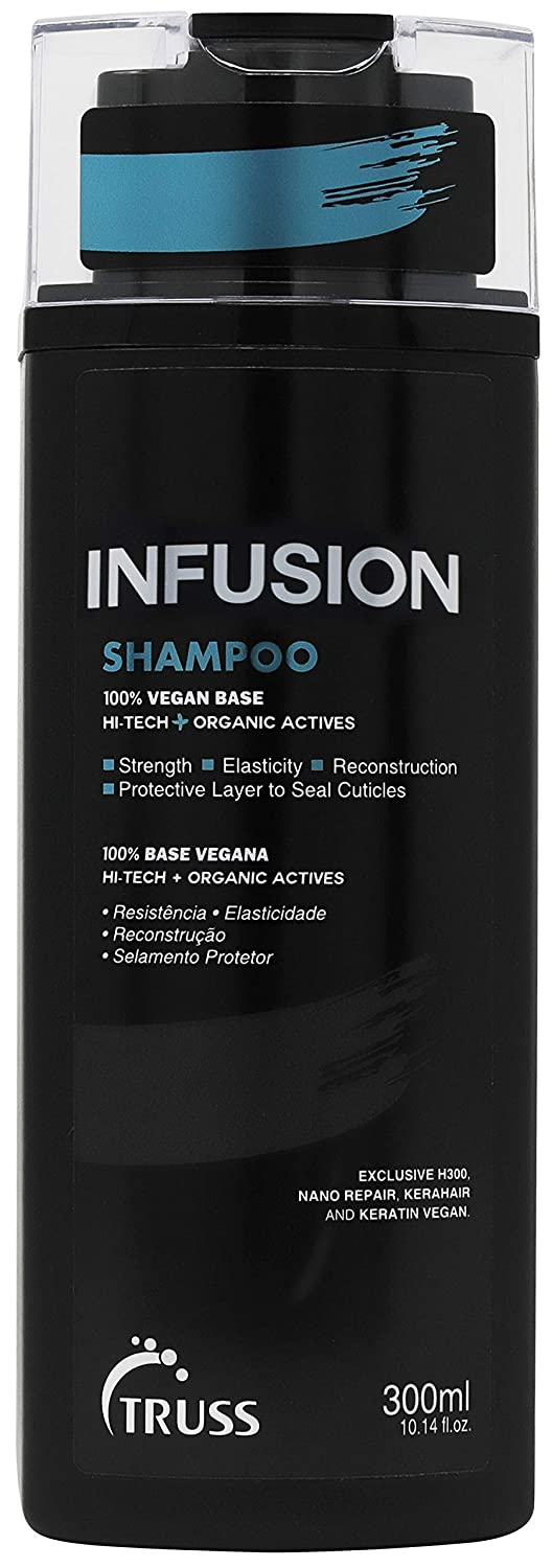 Truss Infusion Shampoo for Dry, Dull, Damaged Hair - 100% Vegan Keratin & Collagen Anti-aging, Color Safe Shampoo Deeply Hydrates, Protects & Restores for Strong, Soft, Shiny Hair