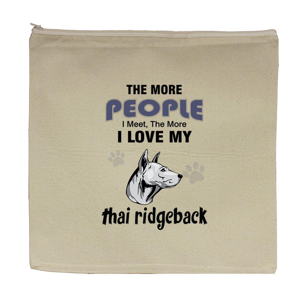 Canvas Zipper Pouch Bag 5.5''X7.5'' More People Meet Love Thai Ridgeback Dog