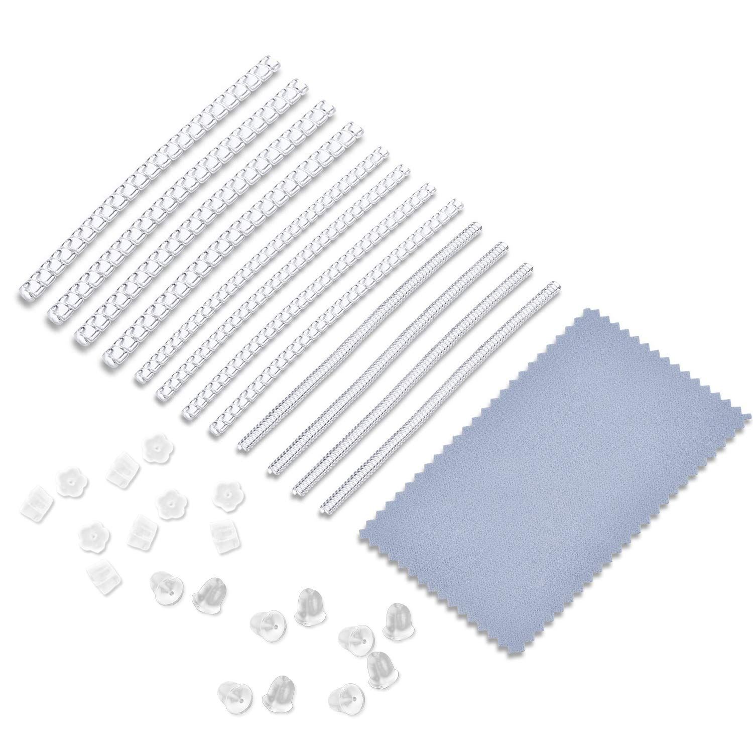 Ring Size Adjuster 3 Sizes Clear Ring Sizer for Any Loose Rings, Perfect for Wedding Rings, Earring Safety Back and 12 Pcs Sizer (2mm/3mm/4mm) Piokio 4336825679