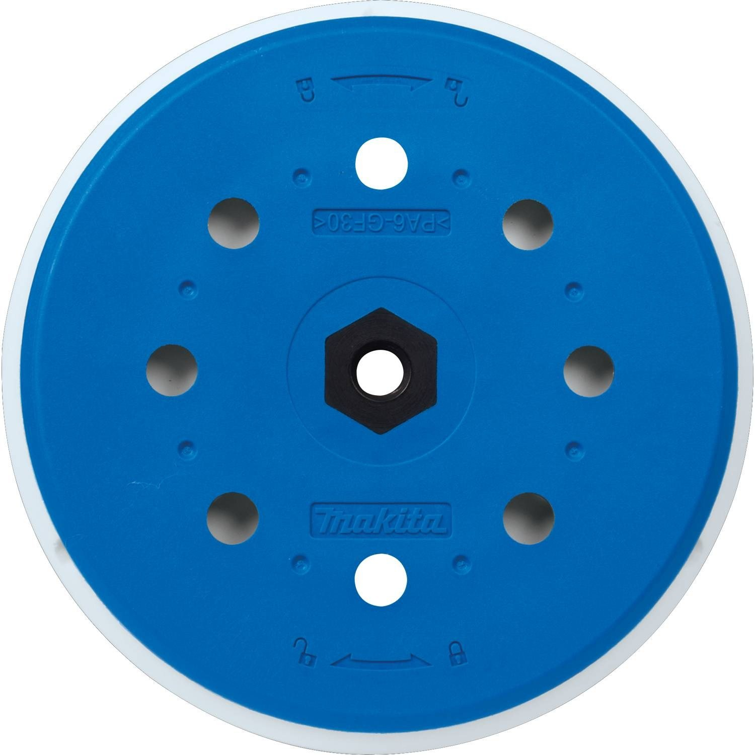 Makita 197315-5 6'' Round Backing Pad, Hook & Loop