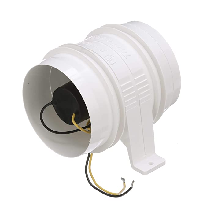 Attwood 1749-4 Quiet Blower Water Resistant (White, 4-Inch)