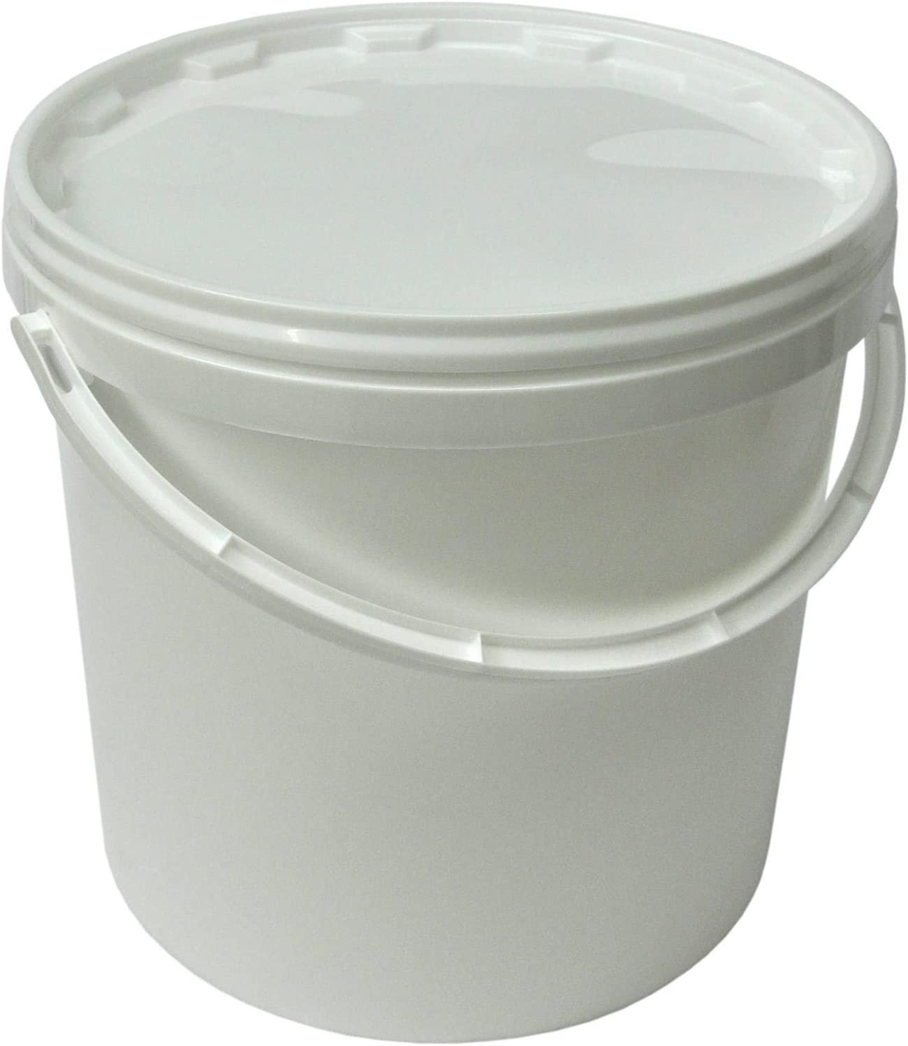50x22051 Lot de 50 seaux plastique 10 L conteneur qualit/é alimentaire avec anse et couvercle