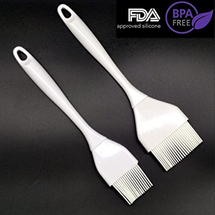 Cepillo de crema de silicona para pasteles - Cepillo de crema para barbacoa, 2 juegos