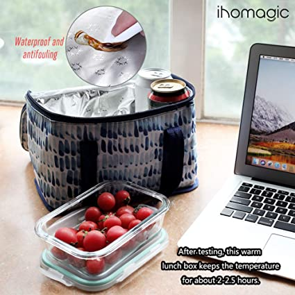 IHOMAGIC Bolsa térmica Porta Alimentos 5L Bolsa Térmica Plegable ...