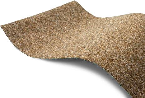 200x250 cm Rasenteppich Kunstrasen Premium hellgrau grau weich Meterware mit Drainage-Noppen wasserdurchl/ässig