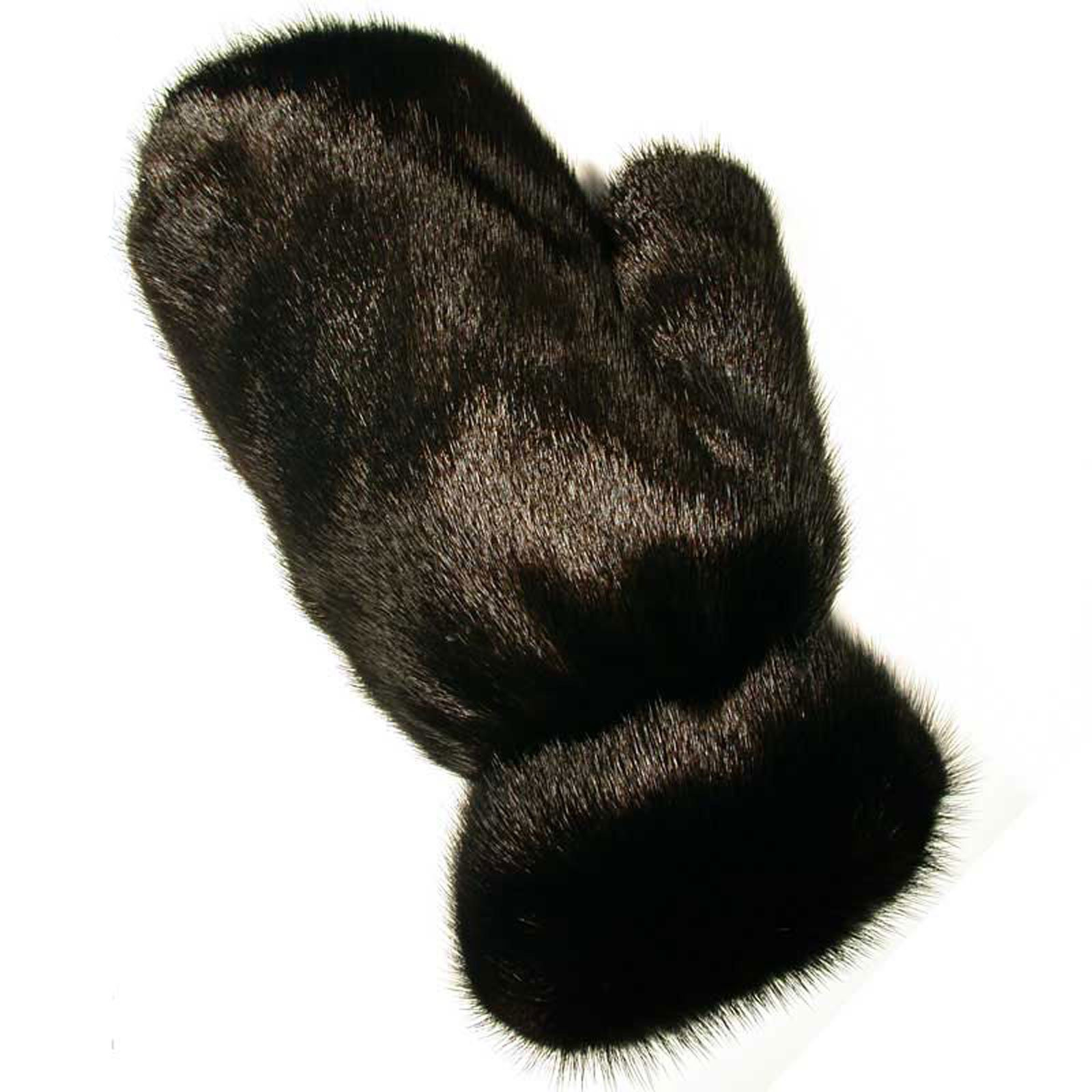 MinkgLove Mink Massage Glove, Silky & Textured Feel, Ranch Black Color, Hand Tailored, Unisex, One Size - Left Hand Single Sided Fur by MinkgLove