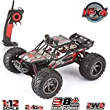 VATOS 1/12 RC Truks Off Road Remote Control Cars Rechargable 2.4GHz Fast Remote Control Car 2WD Waterproof All Terrain Remote Control Car | 26+ MPH Remote Control Truck | RC Cars for Kids and Adults