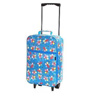 Slimbridge Barcelona el equipaje de mano de los niños con ruedas, Azul: Amazon.es: Equipaje