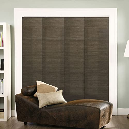 Chicology Adjustable Sliding Panels, Cut To Length Vertical Blinds, French  Oolong (Natural Woven