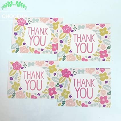 Amazon Jewh 50pcs Thank You Style Card Leave A Message