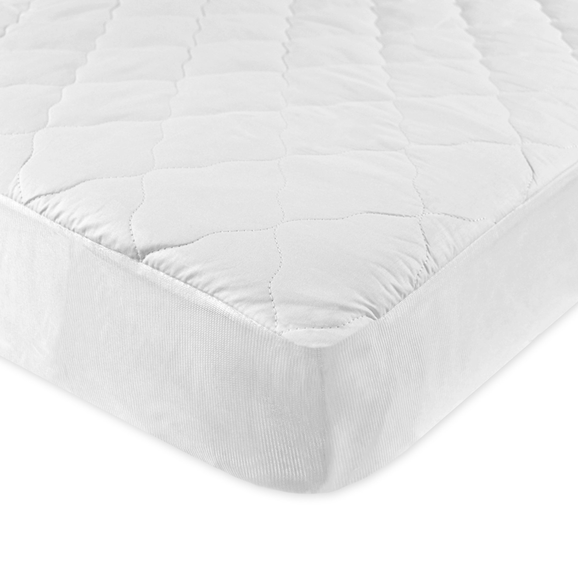 Carter's Keep Me Dry Waterproof Layer Quilted Fitted Crib Pad, White
