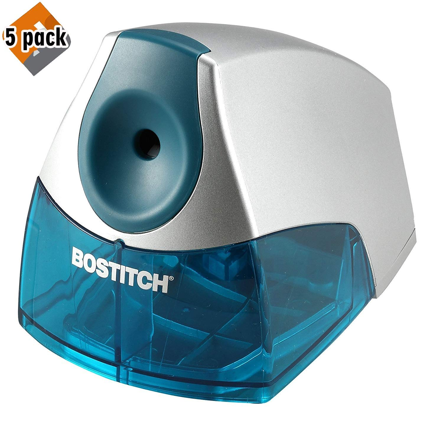Bostitch Personal Electric Pencil Sharpener, Blue (EPS4-BLUE) - 5 Pack
