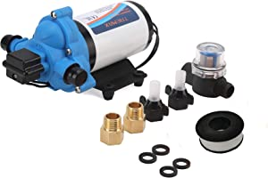 Tremax Industrial Diaphragm Power Pump 110 VAC, 4.0 GPM,45PSI, Water Pressure Pump, Heavy Duty Water Pump, W/Power Plug for Wall Outlet
