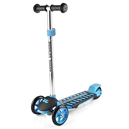 Zoom Cruzer Little Kids Three Wheel Kick Scooter - Perfect for Children Aged 3+ - Adjustable Handles & Lightweight Construction - Blue