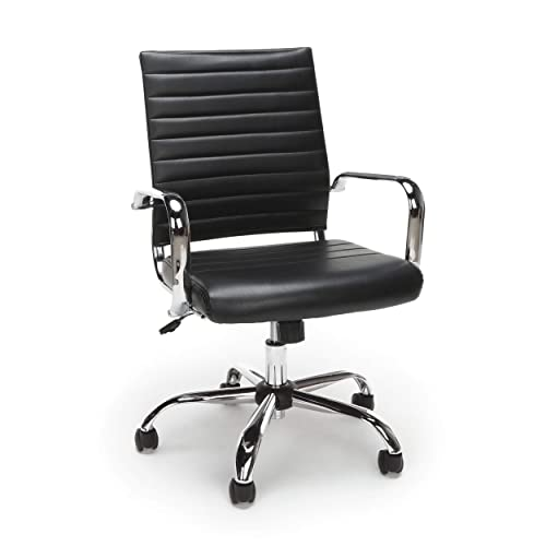 OFM ESS Collection Soft Ribbed Bonded Leather Executive Conference Chair