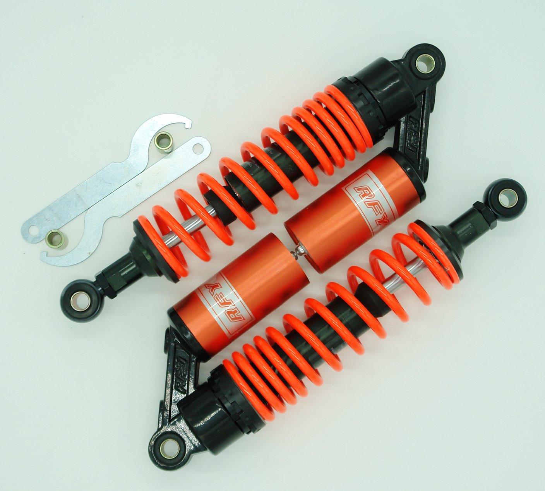 Tencasi 320mm 12 5//8 Ajuste universal ajustable agujero redondo 7mm spring RFY amortiguador para motocicleta ATV Gokart Quad Dirt bike