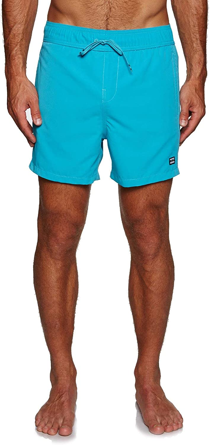 Soft Surf Suede Fabric and Elasticated Waist Billabong All Day Layback 16 inch Boardshorts