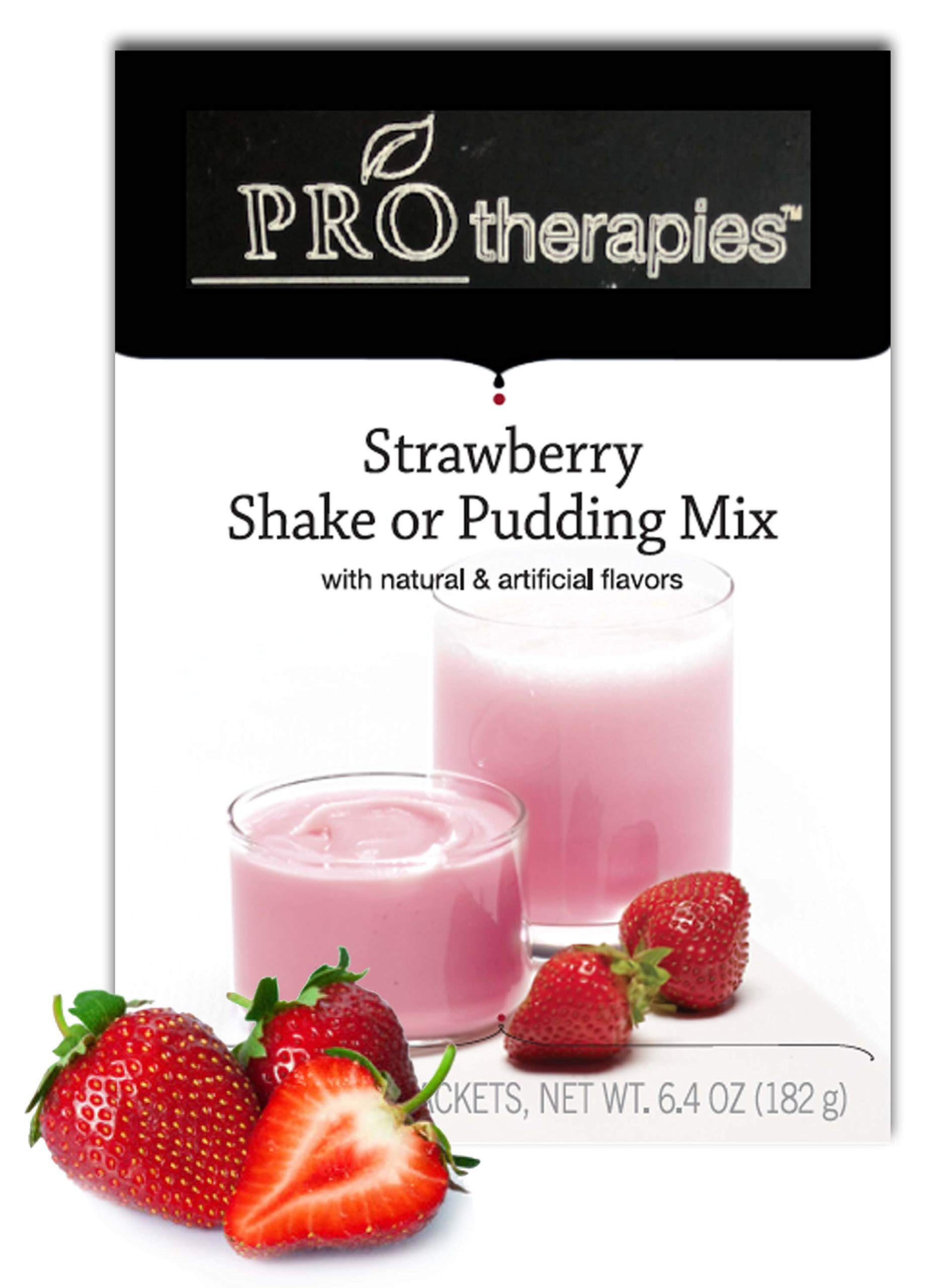 High Protein Pudding Mix - Strawberry Low-Carb Instant Diet Pudding Mix, Low Calorie Weight Loss Shake/Pudding, 7 Count